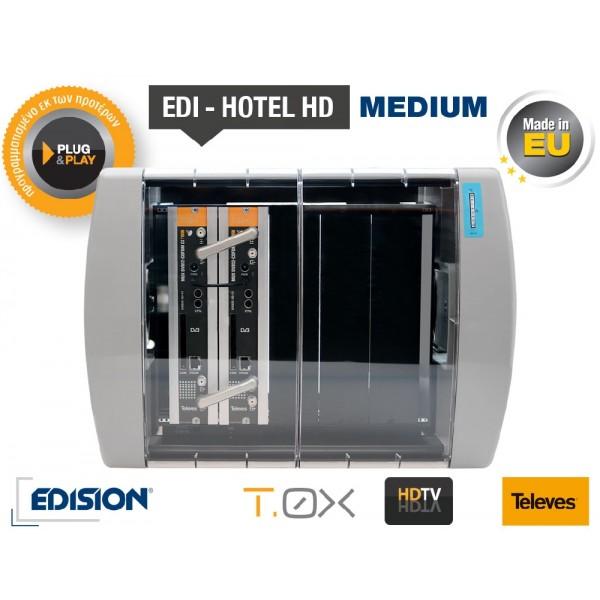 EDI-HOTEL HD MEDIUM Πακέτο με 11 τηλεοπτικά και 7 ραδιοφωνικά δορυφορικά κανάλια για ξενοδοχείο