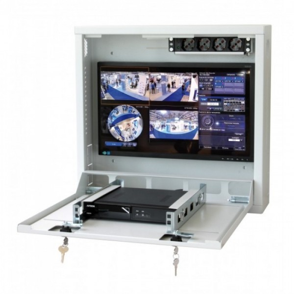 Techly ICRLIM08 - Επιτοίχια Καμπίνα Ασφαλείας για DVR