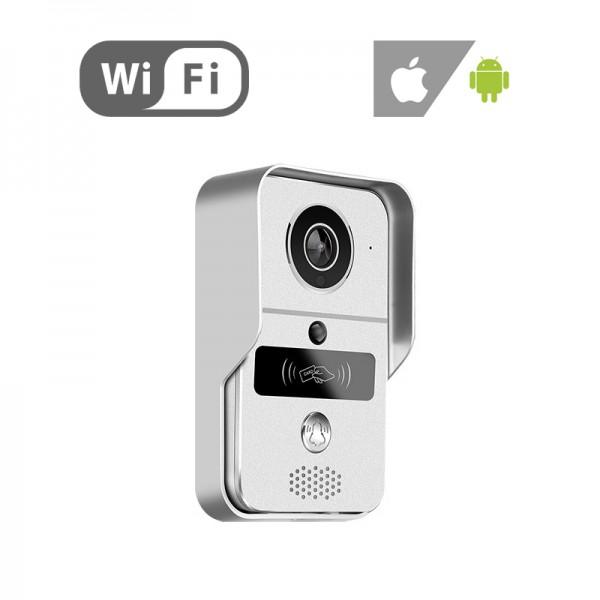 SM-KW02 Ασύρματη θυροτηλεόραση WiFi Μπουτονιέρα με κάμερα, P2P, microSD, Android, iPhone