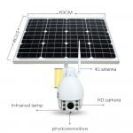 Κάμερα 4G/3G Internet με ηλιακό πάνελ, μπαταρίες, εφαρμογή σε κινητά App, IP Cloud server P2P, περιστρεφόμενη