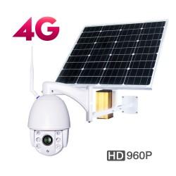 Κάμερα 3G/4G Internet με ηλιακό πάνελ, μπαταρίες, εφαρμογή σε κινητά App, IP Cloud server P2P, περιστρεφόμενη