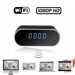 TCT-Z6 Κρυφή κάμερα  WiFi σε ψηφιακό ρολόι, IR Night Vision 1080P HD MicroSD Motion Detection