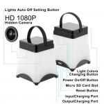 Κρυφή κάμερα σε φωτιστικό γραφείου WiFi 1080P σύνδεση με κινητό micro sd
