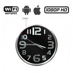 HC04-IP Κρυφή κάμερα σε ρολόι τοίχου ασύρματη WiFi με καταγραφή βίντεο MicroSD σύνδεση με κινητό