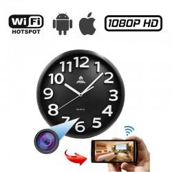 Κρυφή κάμερα σε ρολόι τοίχου ασύρματη WiFi με καταγραφή βίντεο MicroSD σύνδεση με κινητό