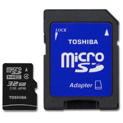 Toshiba microSDHC 32GB Class 4