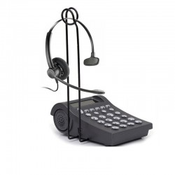CDX-303 Αναλογική τηλεφωνική συσκευή για όλα τα τηλεφωνικά κέντρα με κεφαλόφωνο