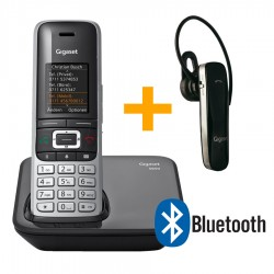 Gigaset ασύρματο τηλέφωνο S850 και bluetooth ακουστικό ZX530