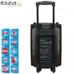 "Ibiza Sound PORT10VHF-BT  Φορητό Αυτόνομο Σύσημα PA 10""/25CM με USB-MP3, REC, VOX, BLUETOOTH, 1 VHF & 1 WIRED MIC"