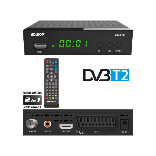 EDISION PICCO T2 H.264, MPEG4, Full High Definition DVB-T2