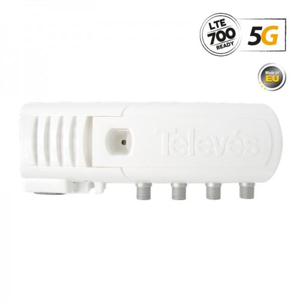 Televes 552220 ΕΝΙΣΧ. ΓΡΑΜΜΗΣ F 5G LTE 20dB 110dBuV V/U 3out (2+TV)