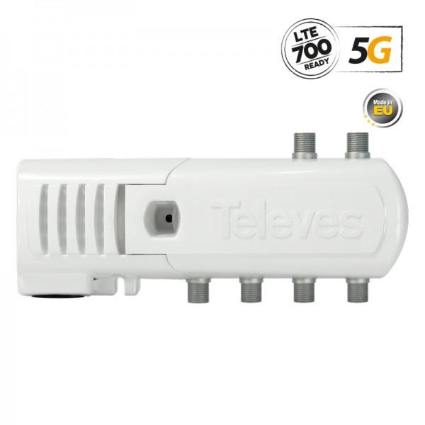 Televes 552320 ΕΝΙΣΧ. ΓΡΑΜΜΗΣ F 5G LTE 16dB 102dBuV V/U 5out (4+TV)