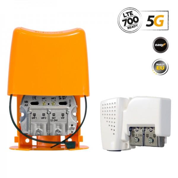 Televes 568010 NanoKom Kit ΕΝΙΣΧΥΤΗΣ ΙΣΤΟΥ 5G LTE + PSU 24V UHF/UHF/VHF