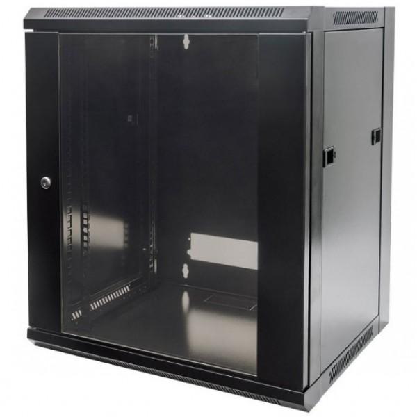 INTELLINET INT 711883 Επιτοίχια καμπίνα 19'', 12U (570x600mm), Flatpack, σε μαύρο χρώμα