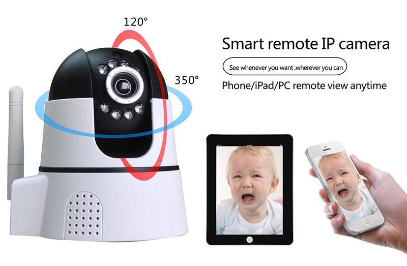 περιστροφική ρομποτική ασύρματη κάμερα wifi